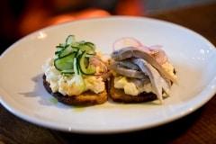 Slaidburn egg mayo & soused herrings on toast